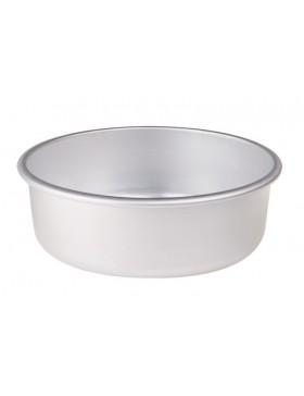 tortiera conica alluminio alta cm.8 dia.20 con orlo agnelli