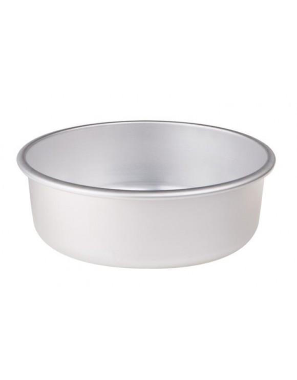 tortiera conica alluminio alta cm.8 dia.24 con orlo agnelli
