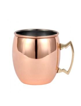 boccale / mug in acciaio inox placcato in rame moskow mule 50 cl. ilsa