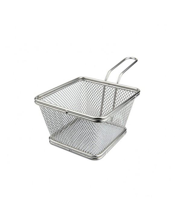 mini cestino quadro inox per fritture ilsa