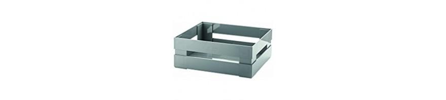cassetta piccola salvaspazio 22.5x15.5 h.8 cm.  tidy & store guzzini