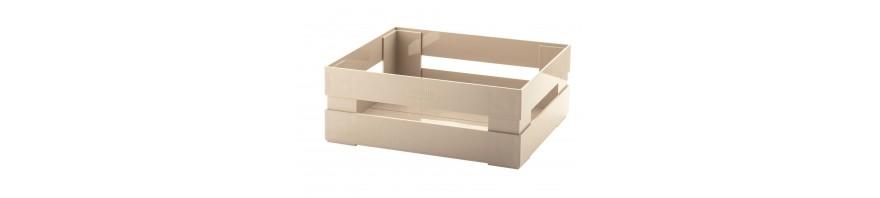 cassetta grande salvaspazio 30.5 x 22.5 h. 11.5 cm.tidy & store guzzini