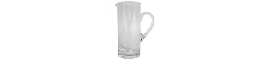 caraffa cilindrica in vetro lt.1 cerve