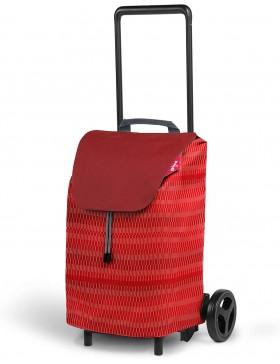 carrello porta spesa rosso a 2 ruote con telaio in acciaio Easy gimi