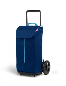 carrello porta spesa blu a 2 ruote con telaio in acciaio Komodo gimi