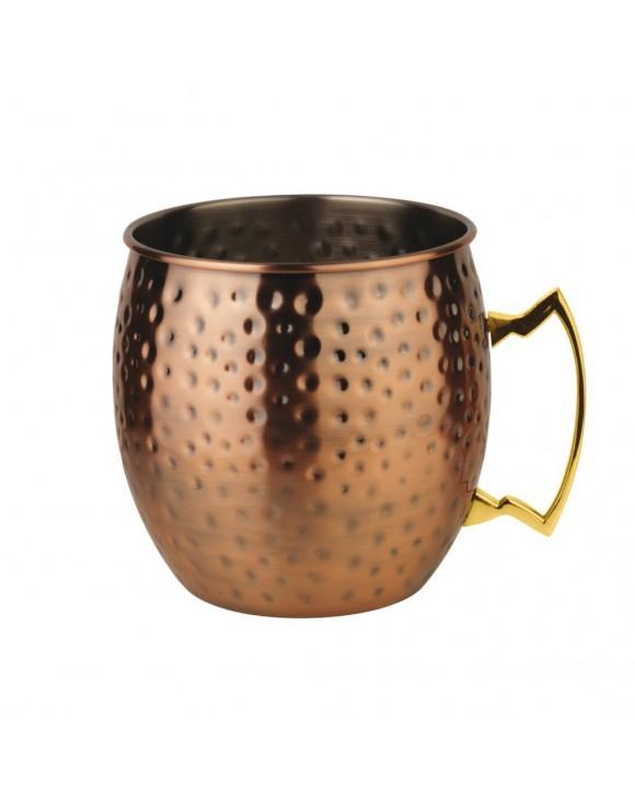 tazza mug in rame moskow mule classic martellato lt. 0,55 paderno