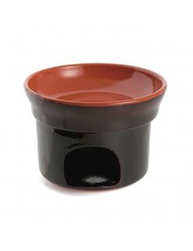 fornello bagna cauda in terracotta Vulcania