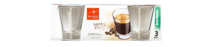 bicchierino espresso caffeino  8.5 cl. bormioli conf. 3 pz.