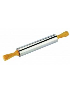 mattarello in acciaio inox 25 cm. diametro 6 cm. tescoma