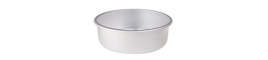 tortiera conica alluminio alta cm.8 dia.18 con orlo agnelli