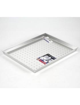 teglia rettangolare alluminio forata cm.40x30 h.3 agnelli
