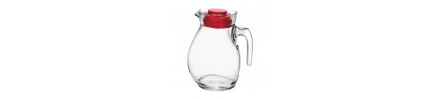 caraffa sangria in vetro lt. 1.44 con tappo in plastica bormioli